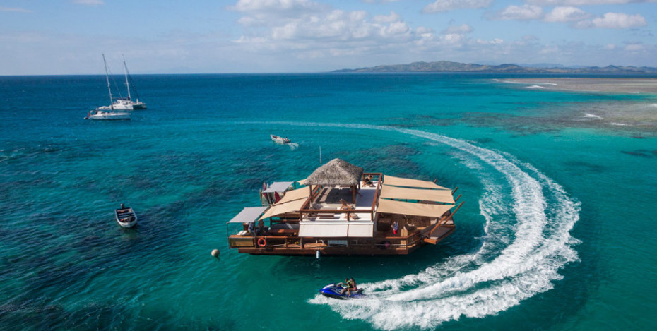 Cloud 9 is an Amazing Floating Bar Just Off of the Fiji Islands