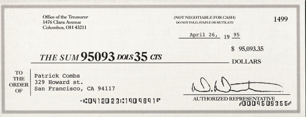 joke cheque template - guy deposits 95 junk mail check as a joke and bank
